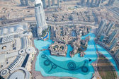 The top view from Burj Khalifa in Dubai — Стоковое фото