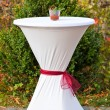 Bar table decorated for outdoor wedding — Stock Photo