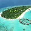 Stock Photo: Tropical island in Indian ocean Maldives
