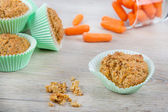 Homemade carrot muffins for Easter breakfast — Stock Photo