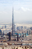 View at Sheikh Zayed Road skyscrapers in Dubai — Stock Photo