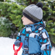 Stock Photo: Adorable toddler boy on beautiful winter day