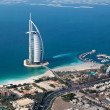 Dubai, UAE. Burj Al Arab from above — Stock Photo #18386109