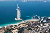 Dubai, UAE. Burj Al Arab from above — Stock fotografie