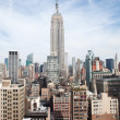 Cityscpae and Empire State Building in New York — Stock Photo