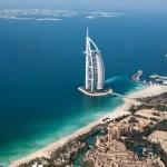 Dubai, UAE. Burj Al Arab from above — Stock Photo