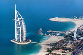 Dubai, UAE. Burj Al Arab from above — Foto de Stock
