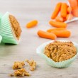 Homemade Easter carrot muffins — Stock Photo