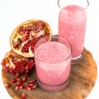 Stock Photo: Strawberry and pomegranate healthy smoothie