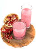 Strawberry and pomegranate healthy smoothie — Stock Photo