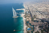 Dubai, UAE. Burj Al Arab from above — Stock Photo