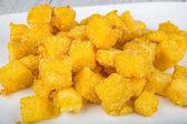 Fried crunchy polenta — Stock Photo