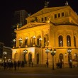 FRANKFURT - MAR 2: Alte Oper at night on March 2, 2013 in Frankf — Photo
