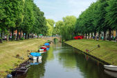 Town canal in Friedrichstadt, Germany — Stock Photo