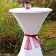 Bar table decorated for outdoor wedding — ストック写真