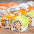 Variation of  tasty sushi rolls — Stock Photo