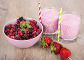Strawberry healthy smoothie — Stockfoto