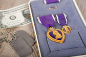 A Purple Heart Military medal — Stock Photo