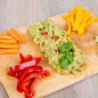 Stock Photo: Fresh vegetables with guacamole