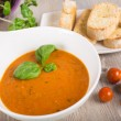 Fresh cream tomato soup — Stock Photo