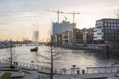 Hafencity district with Elbphilharmonie in Hamburg — Stock Photo