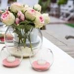 Decoration of summer garden table — Stock Photo #25747331
