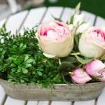 Decoration of summer garden table — Stock Photo #25747483