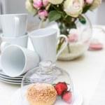 Decoration of summer garden table — Stock Photo #25747637
