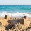 Stock Photo: Sand Castle on Beach