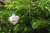 Antique toy on Christmas tree. — Stock Photo