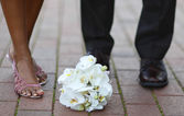 Bride bouquet, closeup. — Stock Photo