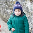 Portrait of little boy of two years outdoor — Stock Photo