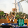 Dubai, UAE. Burj Al Arab hotel with arabic architecture — Stock Photo #35886461