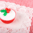 Christmas cupcake with white fondant frosting — Foto Stock #36574617