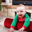 Adorable baby boy with christmas decoration. — Stock Photo #37230887