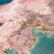 Stock Photo: Aerial view of Lake Mead from above
