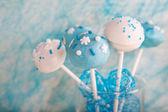 Wedding cake pops in morbido e bianco blu. — Foto Stock