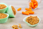 Homemade carrot muffins baked for Easter holdiay — Stock Photo