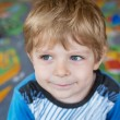Portrait of little toddler boy of three years — Stock Photo