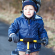2 years old toddler riding on his first bike  — Stock Photo #43017447