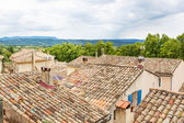 Provencal street with typical houses in southern France, Provenc — Stock Photo