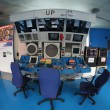 Air Traffic controllers position displayed at French Air and Space museum — Stock Photo