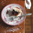 Fig and raspberry galette with icing sugar — Stock Photo