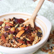 Homemade granola with dried fruits, nuts and seeds - Stock Photo