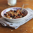 Homemade granola with dried cranberry and nuts - Stock Photo