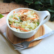 Salad with cabbage, carrot, apples and pears with walnuts - ストック写真