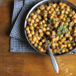 Royalty-Free Stock Photo: Chickpea stew with bacon, leek and chopped fresh dill
