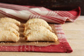 Homemade apple hand pies with cheddar cheese — Stock Photo