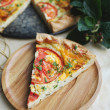Puff pastry snack pizza — Stock Photo