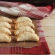 Homemade apple and cinnamon hand pies with cheddar cheese — Stock Photo